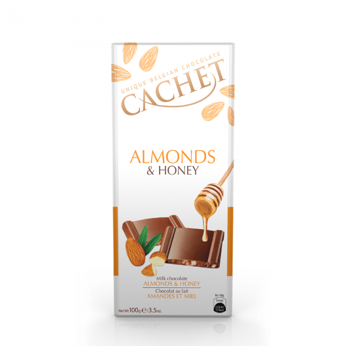 Chocolate cachet milk almonds