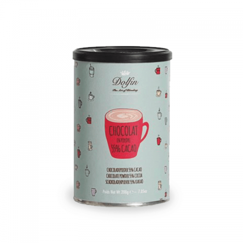 Chocolate dolfin dark 55% powder hot chocolate