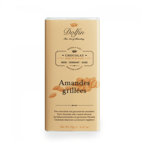 chocolate dolfin dark grilled almonds