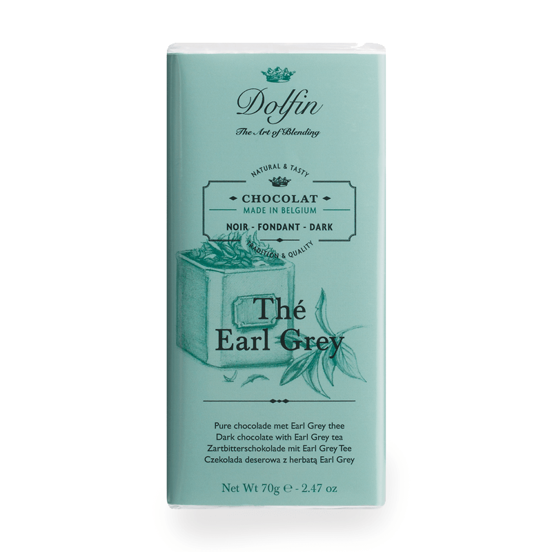 chocolate dolfin dark with earl grey tea