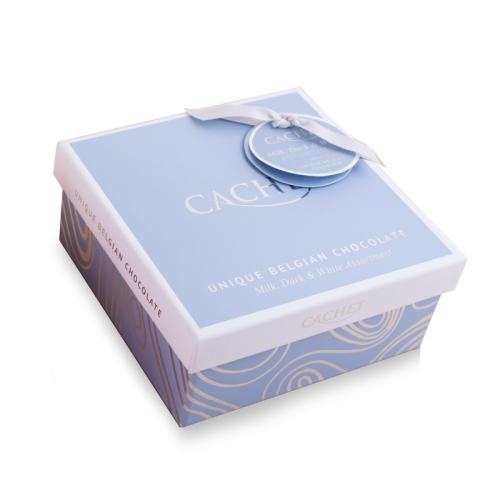 chocolate cachet assortment blue cube