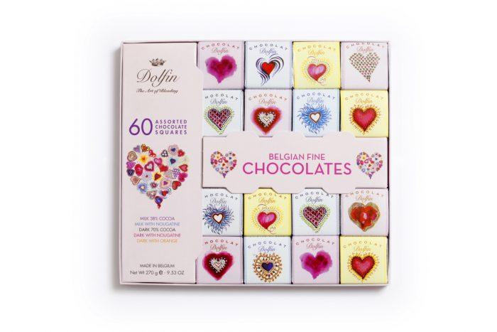 chocolate dolfin gourmet squares 60 LOVE