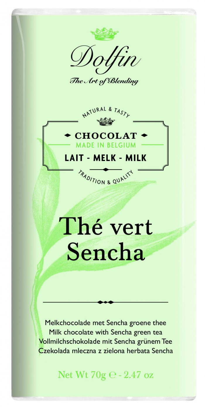 chocolate dolfin milk with sencha green tea